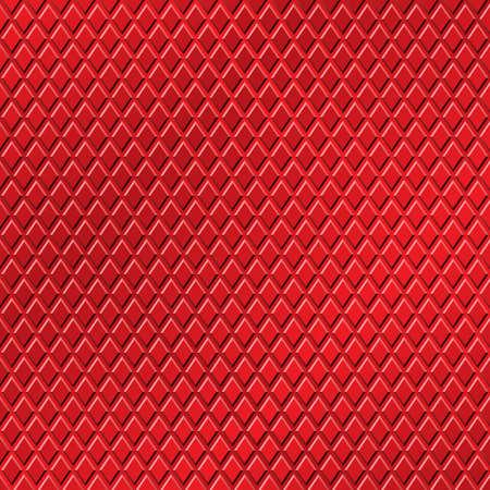 Un fondo rojo metalizado con el modelo Diamond Ilustración de vector