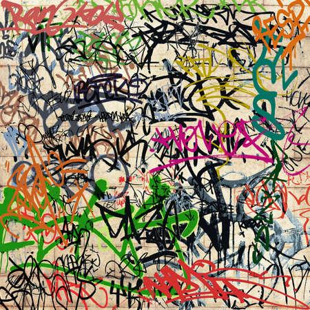 graffiti background: A Wall with lots of Graffiti