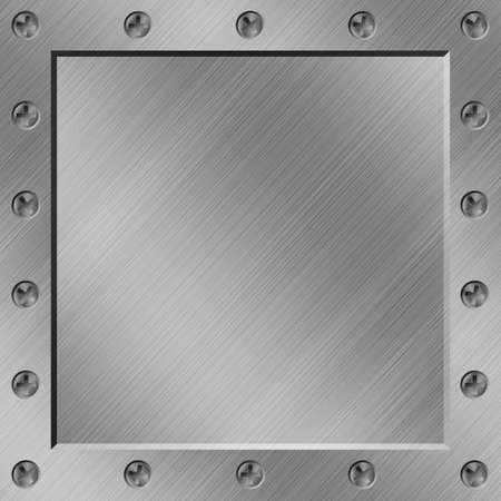 brushed aluminum: A Metal Background with Border of Screws