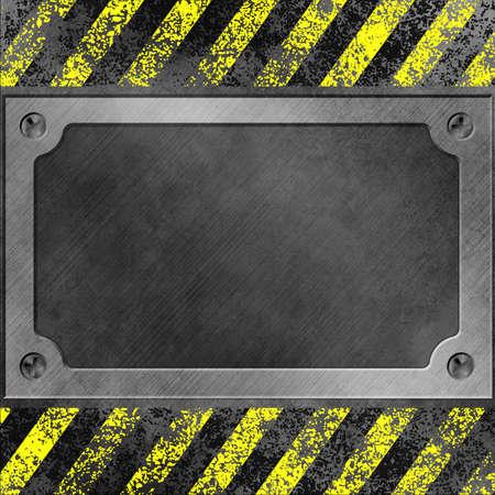Een Grunge Metalen Achtergrond met Name Plate, Plaque