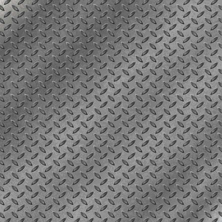 A Metal Background with Tread Plate Pattern Vector