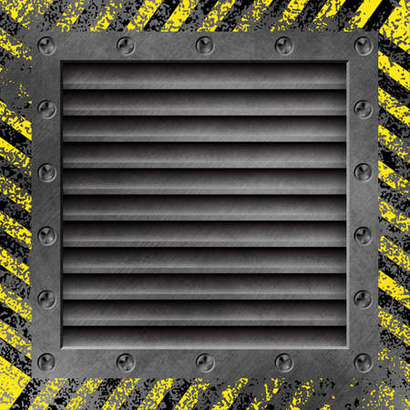 A Grunge Metal Background with Air Duct  and Screws Stock Photo - 15058014