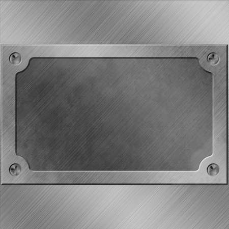 A Metal Background with Name Plate, Plaque Stock Photo - 15058011