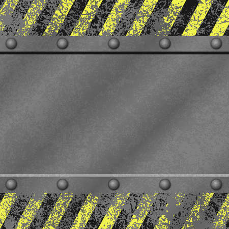 iron and steel: A Grunge Metal Background with Rivets