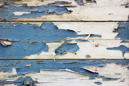 오래 된 나무 보드와 페인트 껍질 그런 지 배경