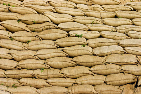 A Pile or Wall of Sandbags photo