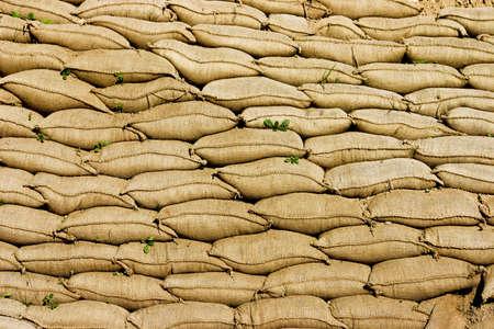 sandbag: A Pile or Wall of Sandbags