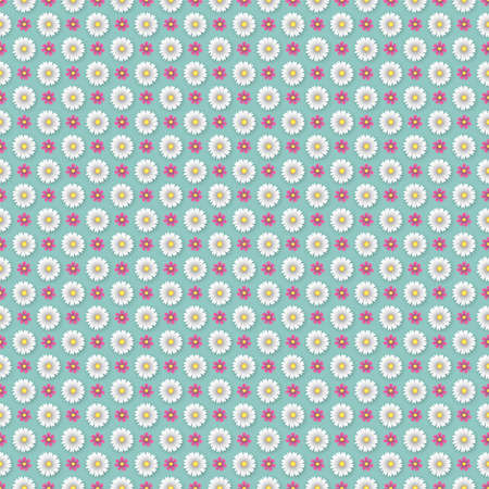 oxeye: A Geometrical Flower Wallpaper Pattern - All colors grouped together, so can easily be changed - EPS 10