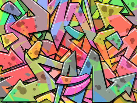 カラフルな落書きの背景  イラスト・ベクター素材