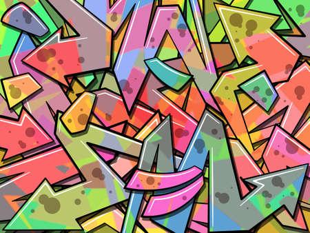 grafitis: Un Fondo colorido de la pintada
