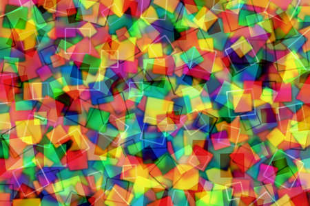 square abstract: A Colorful Abstract Background with Transparent Squares