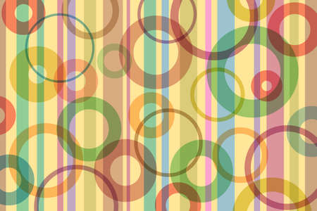 retro circles: A Retro Abstract Background with Stripes and Circles