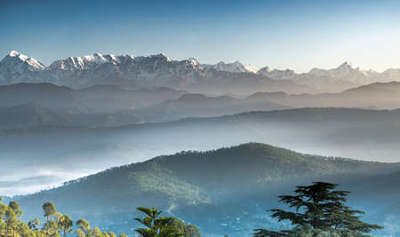Himalayan view from Kausani overlooking the entire range
