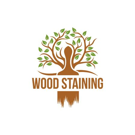 Wood staining logo vector