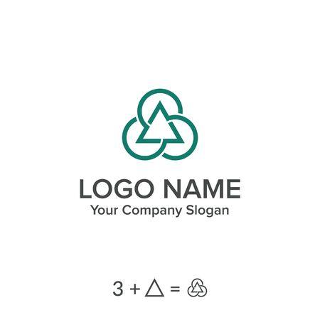 Triangle trhee logo vector Иллюстрация