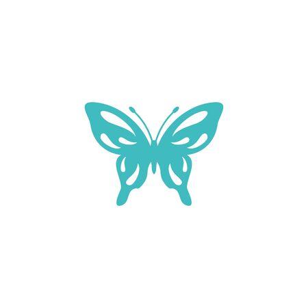 Butterfly beauty logo vector