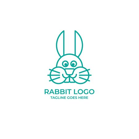 Rabbit bunny animal template logo vector