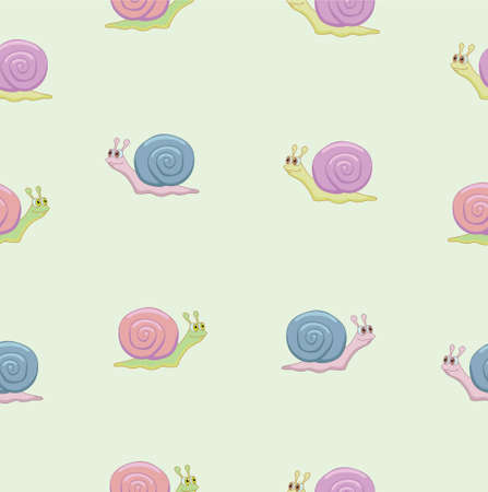 Multicolored snails Illustration