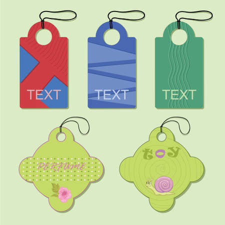 Some bright tags for article and commerce Illustration