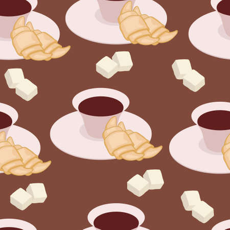Bright pattern for kitchen table-cloth Illustration