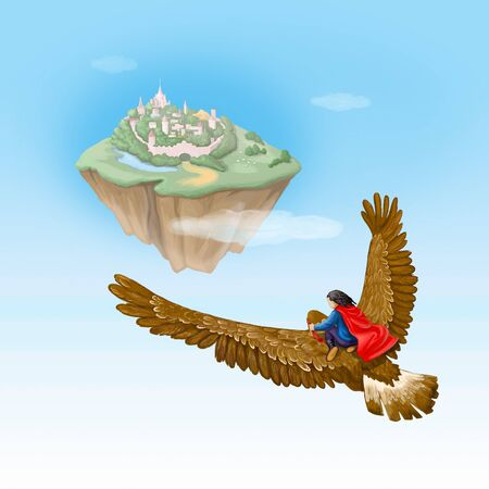 kingdom of heaven: Fairy eagle is flying to pink town