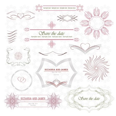 Calligraphic vignette and frame Vector