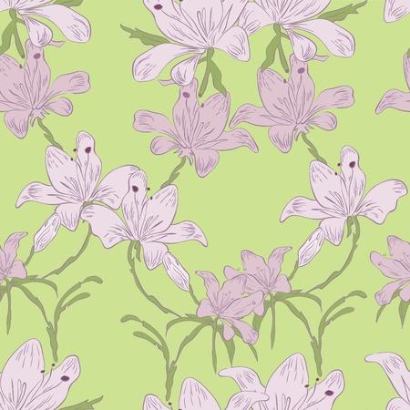 tierno: Flores de verano en el fondo verde tierno