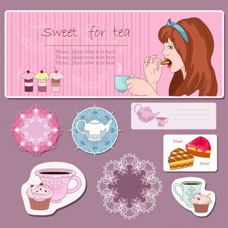 Girl with cup Vector