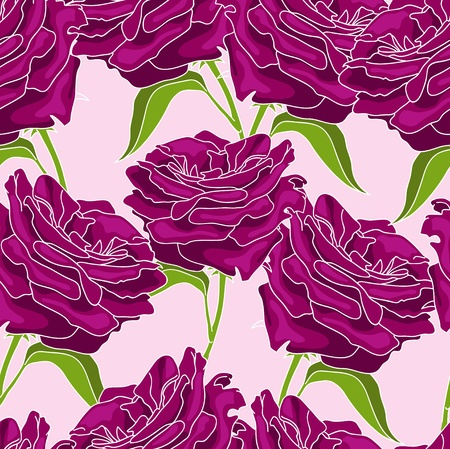Pattern with vinous roses Vector