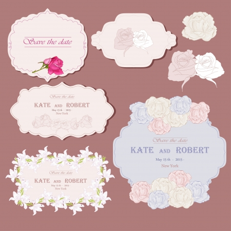 Frames for congratulation Vector