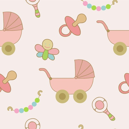 baby goods: Carriage and toys for little girl