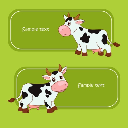 udder: Amusing cow and green grass Illustration