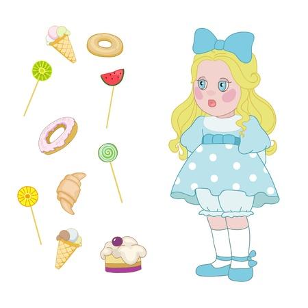 Tasty food for little girl