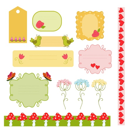 Summer bright frames Stock Vector - 20918850