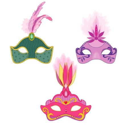 Three masks Illustration