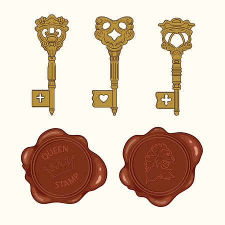bronzy: Key and stamp