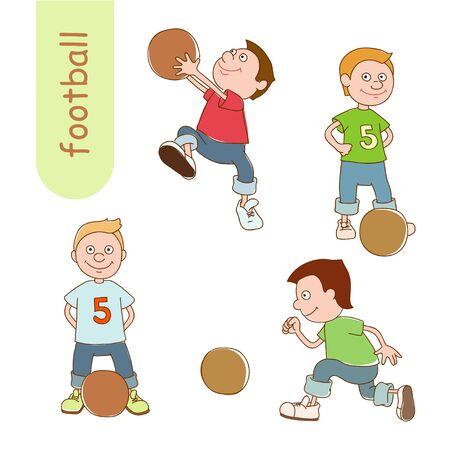 amusant: Footballeur amusant avec boule