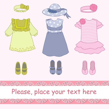 Clothes for girl Vector