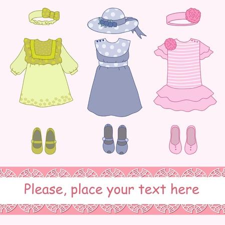Kleidung für Mädchen Vektorgrafik