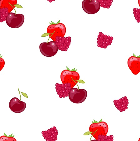 Red  berry on the white background Vector