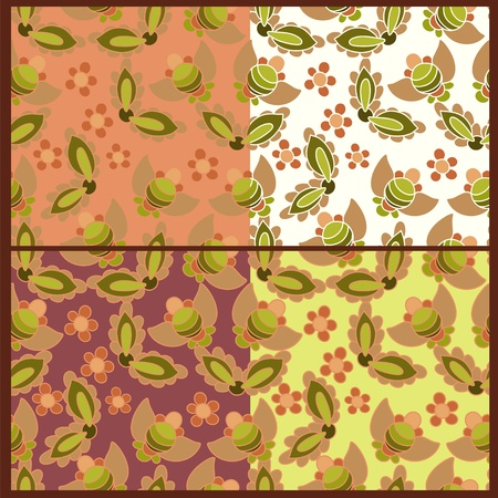 Four summer patterns Illustration