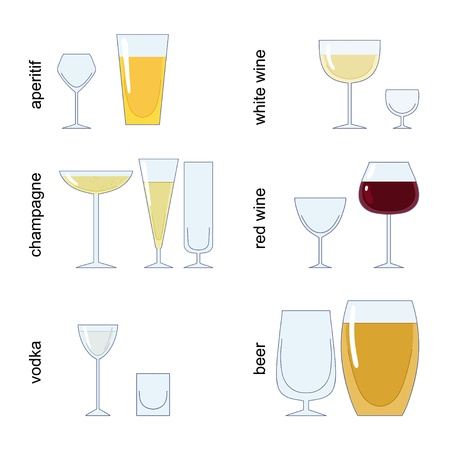bocal: Glass for different beverage