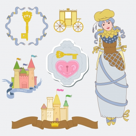 queen s: Fairy tale with  princess Illustration