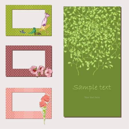 Frames and  cards Vector