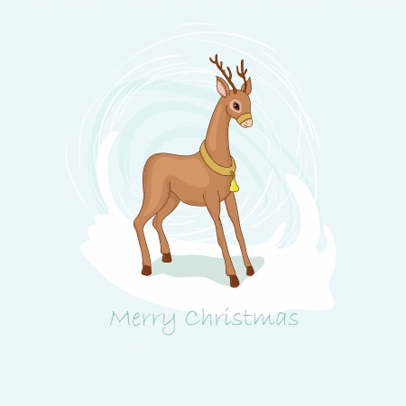 Deer and snowstorm Vector