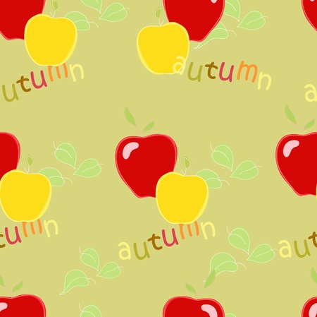 Autumn red apple Vector