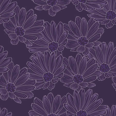Deep purple seamless Stock Vector - 21642532