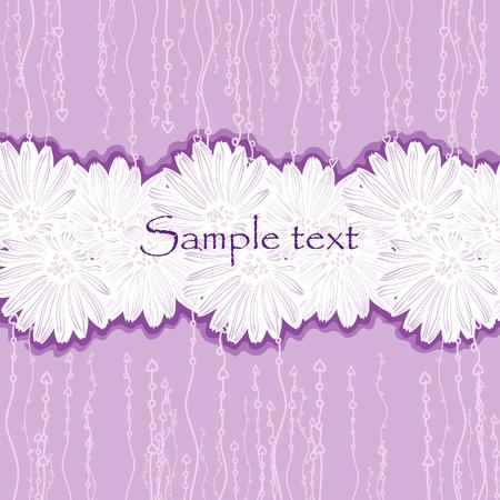 Violet frame for wedding