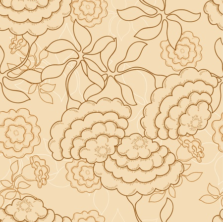 Abstract flower on the beige background Illustration