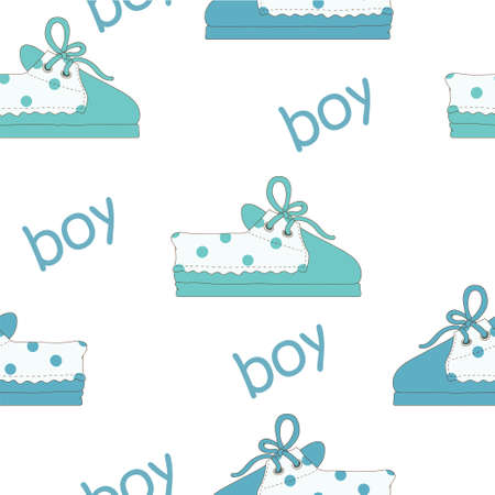 bootees: Footwear for boy Illustration